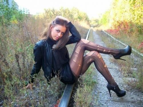 Порно фото девушек в колготках